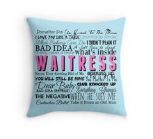 Waitress Original Cast Recording Throw Pillow
