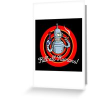 Looney Bot Greeting Card