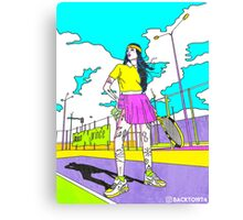 How To Play Tennis Canvas Print