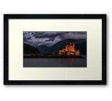 Golden Castle Framed Print