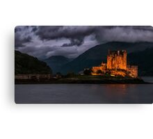 Golden Castle Canvas Print