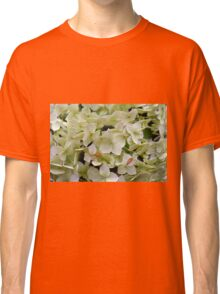 Natural background with small green leaves and flowers. Classic T-Shirt