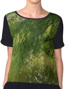 Tree with the leaves in the water. Chiffon Top