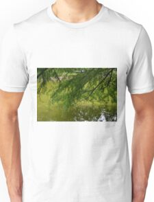 Tree with the leaves in the water. Unisex T-Shirt