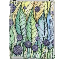 Dandelions.Hand draw  ink and pen, Watercolor, on textured paper iPad Case/Skin