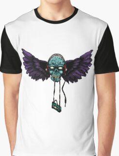 DJ SKULL TAPE Graphic T-Shirt