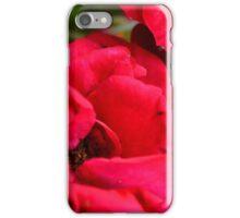 Macro on red roses petals. iPhone Case/Skin