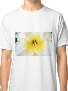 Macro on delicate white flower. Classic T-Shirt