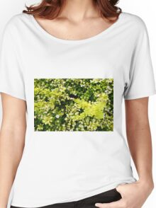 Green leaves pattern. Women's Relaxed Fit T-Shirt