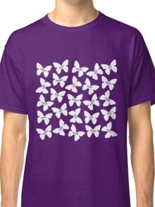 Butterfly Words White Classic T-Shirt