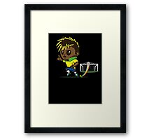 Neymar jr. Soccer Framed Print