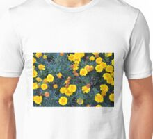 Beautiful yellow flowers texture. Unisex T-Shirt