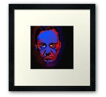 frank underwood is judging you Framed Print