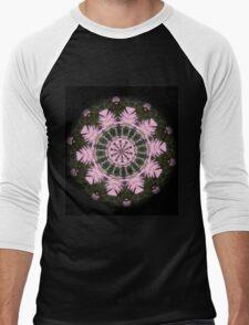 Pink Protea Wheels Men's Baseball ¾ T-Shirt