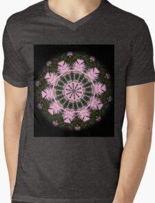 Pink Protea Wheels Mens V-Neck T-Shirt