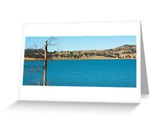 Lake Moogerah in Queensland during the day Greeting Card