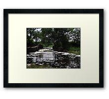 Slow Waterfall Framed Print
