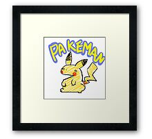 PAKEMAN Framed Print