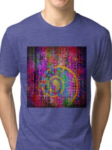Trippy Abstract Tri-blend T-Shirt