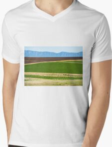 Country agricultural and farming field Mens V-Neck T-Shirt