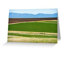 Country agricultural and farming field Greeting Card