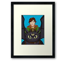 Pretty Dragon Sailor H-ccup Framed Print