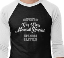 Property of Grey Sloan Memorial Hospital Men's Baseball ¾ T-Shirt