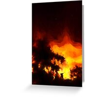 Weeping Tree Silhouette and Sunset 2 Greeting Card