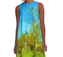 Trees in the Wind A-Line Dress
