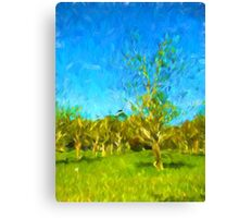 Trees in the Wind Canvas Print