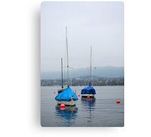 Misty Day on Lake Zurich Canvas Print