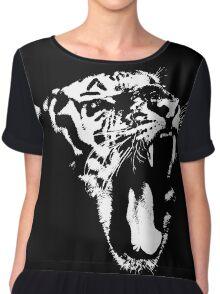 Monochrome Tiger Chiffon Top
