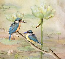 Sacred Kingfisher by Trudi's Images