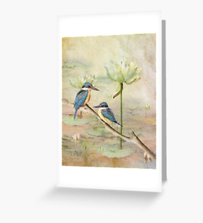 Sacred Kingfisher Greeting Card