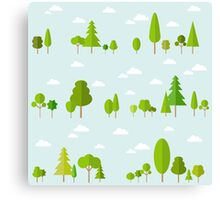Trees Decor Nature Love Canvas Print