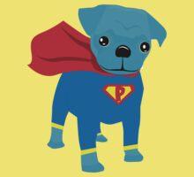 Pugsy Be a Super Hero Baby Tee