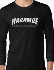 HARAMBE WHITE LOGO Long Sleeve T-Shirt