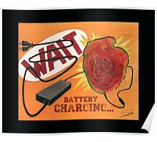 Heart Charging Battery - pop style Poster