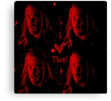 I love Thor Canvas Print