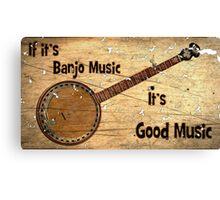 Banjo Music Canvas Print
