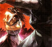 Samurai Shodown V -  Haohmaru vs Rasetsumaru Reproduction Poster by Bryant Almonte Designs