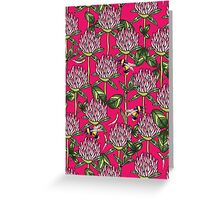 Red clover pattern Greeting Card