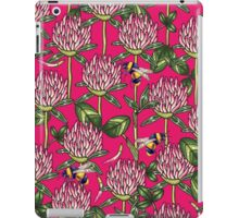 Red clover pattern iPad Case/Skin