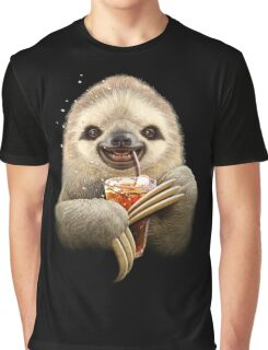 SLOTH & SOFT DRINK Graphic T-Shirt