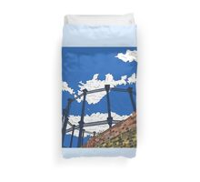 Regent's Canal Gas Tower Duvet Cover