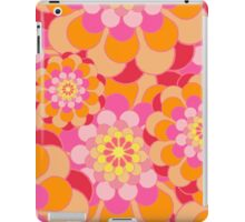 Retro Pink Yellow Tones Floral Pattern iPad Case/Skin