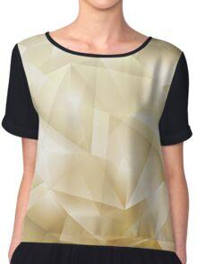 Abstract Geometric Background Chiffon Top