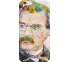 FRIEDRICH NIETZSCHE - watercolor portrait.9 iPhone Case/Skin
