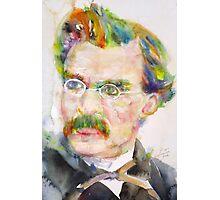 FRIEDRICH NIETZSCHE - watercolor portrait.9 Photographic Print