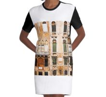Italian windows Graphic T-Shirt Dress